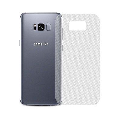 Película Traseira de Fibra de Carbono Transparente para Galaxy S8 Plus - 99capas