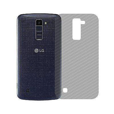 Película Traseira de Fibra de Carbono Transparente para LG K10 - 99capas