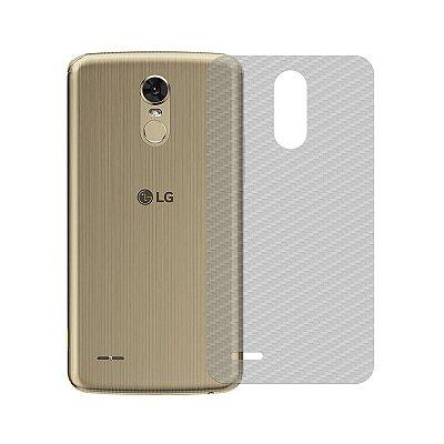 Película Traseira de Fibra de Carbono Transparente para LG K10 Pro - 99capas