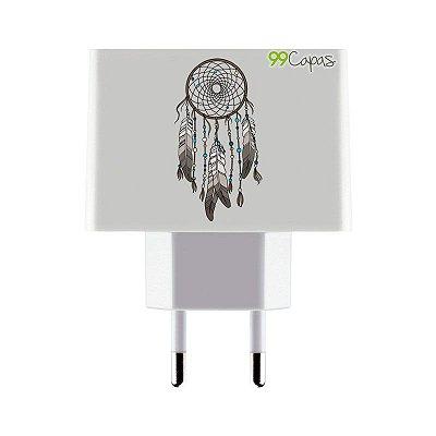 Carregador Personalizado Duplo USB de Parede - Filtro dos Sonhos