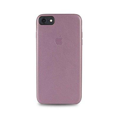 Capa Couro Rosa iPhone 8