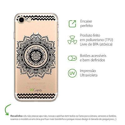 Capa para iPhone 8 - Mandala Preta