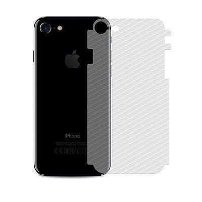 Película Traseira de Fibra de Carbono Transparente para iPhone 8 Plus - 99capas