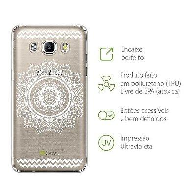 Capa para Galaxy J7 Neo - Mandala Branca