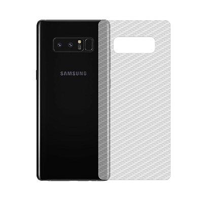 Película de Fibra de Carbono Traseira Transparente para Galaxy Note 8 - 99capas