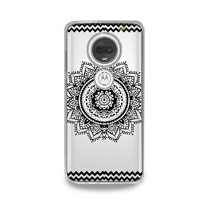 Capa para Moto G7 Plus - Mandala Preta