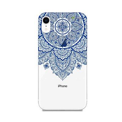 Capa para iPhone XR - Mandala Azul