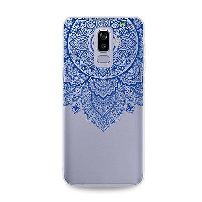 Capa para Galaxy J8 - Mandala Azul
