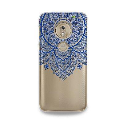 Capa para Moto G7 Play - Mandala Azul