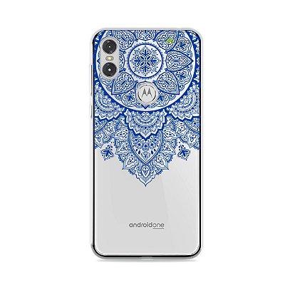 Capa para Moto One - Mandala Azul