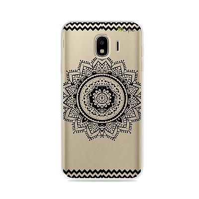 Capa para Galaxy J4 2018 - Mandala Preta