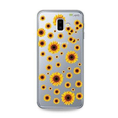 Capa para Galaxy J6 Plus - Girassóis