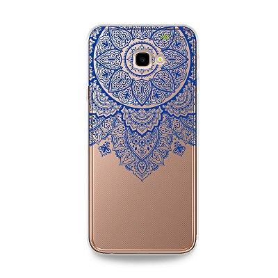 Capa para Galaxy J4 Plus - Mandala Azul