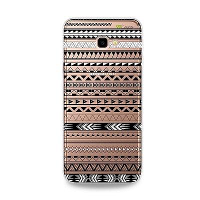 Capa para Galaxy J4 Plus - Maori Branca