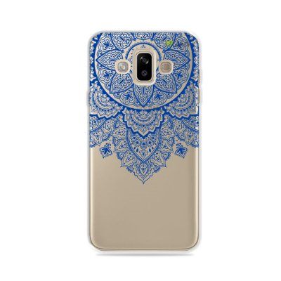 Capa para Galaxy J7 Duo - Mandala Azul