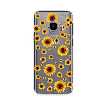 Capa para Galaxy S9 - Girassóis