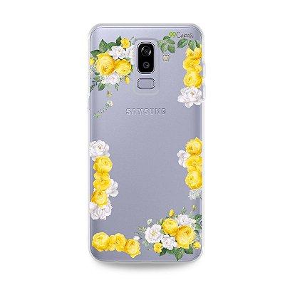 Capa para Galaxy J8 - Yellow Roses