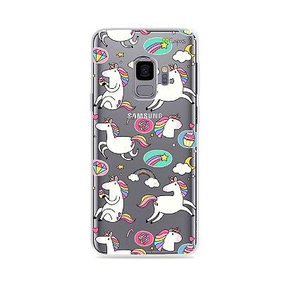 Capa para Galaxy S9 - Unicórnios Felizes