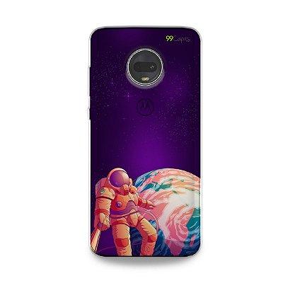 Capa para Moto G7 - Selfie Galáctica