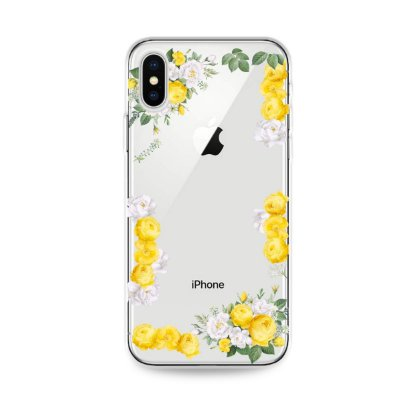 Capa para iPhone X/XS - Yellow Roses