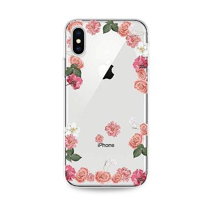 Capa para iPhone X/XS - Pink Roses
