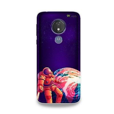 Capa para Moto G7 Power - Selfie Galáctica
