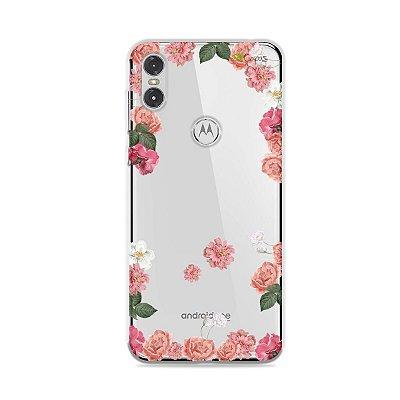 Capa para Moto One - Pink Roses