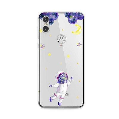 Capa para Moto One - Astronauta Sonhador