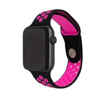 Pulseira esportiva para Apple Watch preto com rosa -38/40 mm - 99Capas