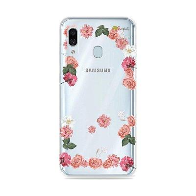 Capa para Galaxy A30 - Pink Roses