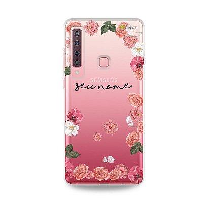 Capa Pink Roses com nome personalizado - 99Capas