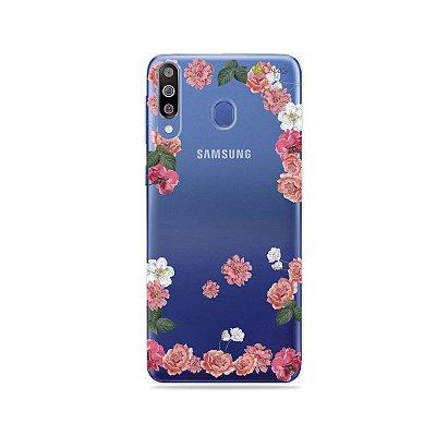Capa para Galaxy M30 - Pink Roses