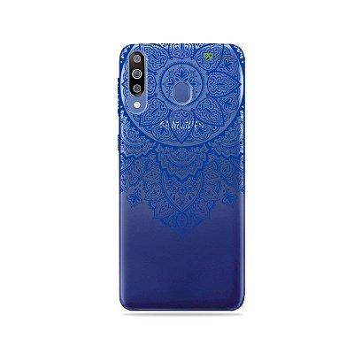 Capa para Galaxy M30 - Mandala Azul