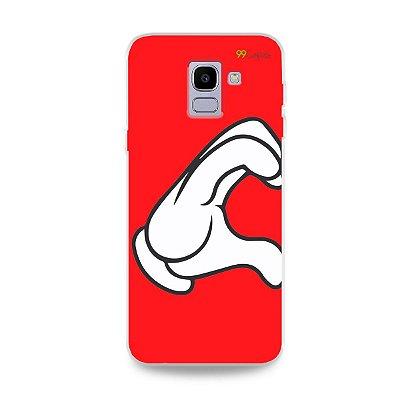 Capa para Galaxy J6 - Coração Mickey