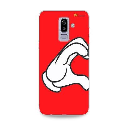Capa para Galaxy J8 - Coração Mickey