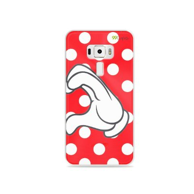 Capa para Asus Zenfone 3 - 5.5 Polegadas - Coração Minnie