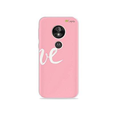 Capa para Moto E5 Play - Love 2