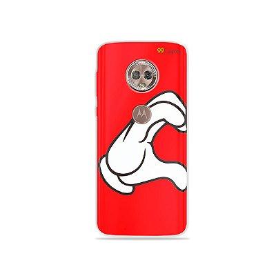 Capa para Moto G6 - Coração Mickey