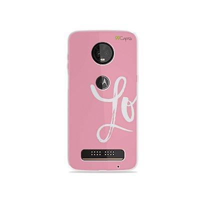 Capa para Moto Z3 Play - Love 1