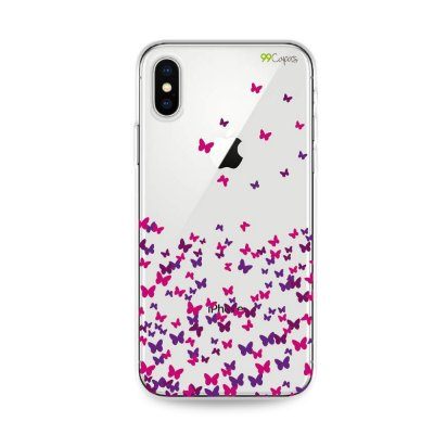 Capa para iPhone X/XS - Borboletas Flutuantes