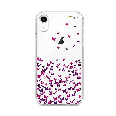 Capa para iPhone XR - Borboletas Flutuantes
