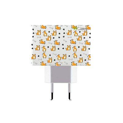 Carregador Personalizado Duplo USB de Parede - Cãozinho