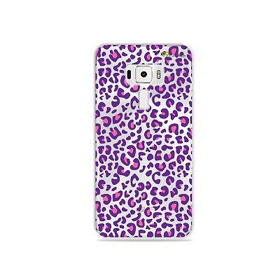 Capa para Asus Zenfone 3 - 5.2 Polegadas - Animal Print Purple