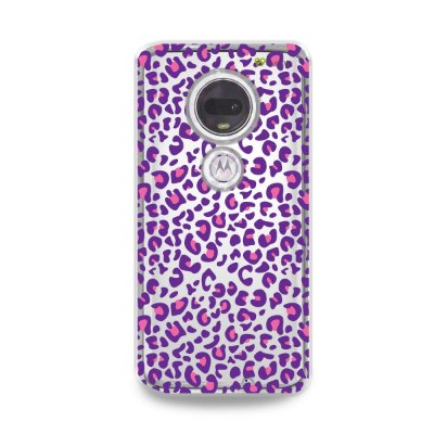 Capa para Moto G7 Plus - Animal Print Purple