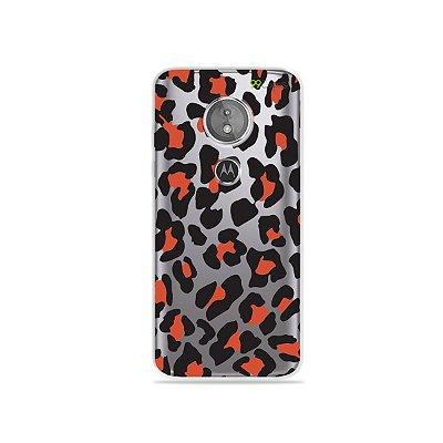 Capa para Moto E5 - Animal Print Red