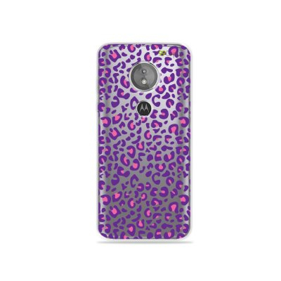 Capa para Moto E5 - Animal Print Purple