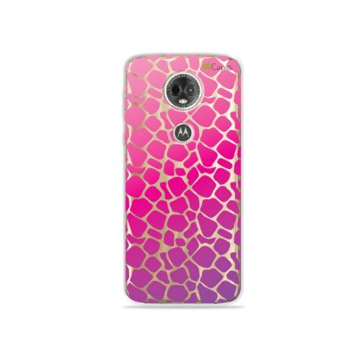 Capa para Moto E5 Plus - Animal Print Pink