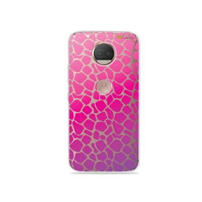 Capa para Moto G5S Plus - Animal Print Pink