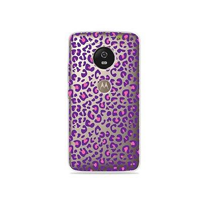 Capa para Moto G5 - Animal Print Purple