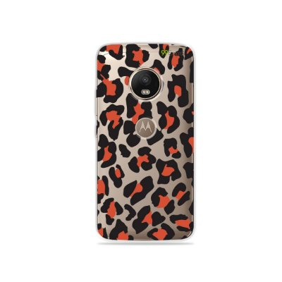 Capa para Moto G5 Plus - Animal Print Red